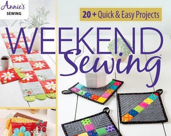Softcover Book, Weekend Sewing, Sew Cozies, Pincushions, Canning Jar Wraps, Mug Rugs, Table Runner, Organizer, Annie's