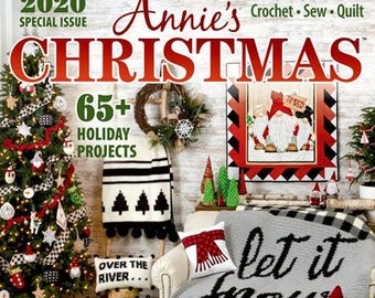 Annie's Christmas Special, Special Issue 2020, Crochet, Sew, Quilt, Christmas, Holiday Decor, Christmas Ornaments, Ornaments