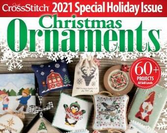 PRE-Order, Magazine, Just Cross Stitch, Christmas 2021, Counted Cross Stitch, Cross Stitch, Christmas, Holiday Decor, Christmas Ornaments