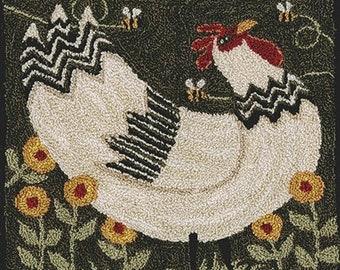 Punch Needle Pattern, Brahma Mama, Folk Art Decor, Primitive Decor, Rustic Decor, Country Rustic, Teresa Kogut, PATTERN ONLY