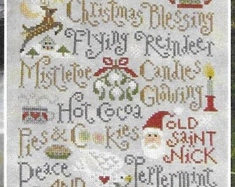 Counted Cross Stitch Pattern, My Christmas List, , Inspirational Sampler, Religious, Christmas Sampler, Silver Creek Samplers, Pattern Only