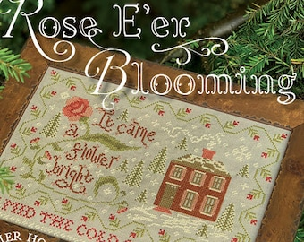 Counted Cross Stitch, Rose E'er Blooming, Christmas Carol, Winter Decor, Cross Stitch Pattern, Summer House Stitches Workes, PATTERN ONLY
