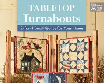 Softcover Book, Tabletop Turnabouts, Quilt Patterns, Holiday Quilts, Home Decor, Quilts, Seasonal Quilts, Mini Quilts, Reversible, Jan Patek