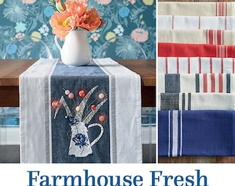 Softcover Book, Farmhouse Fresh, Pillows, Table Runners, Sewing Machine Cover, Apron, Mitt, Laundry Bag, Toweling Projects, Jenelle Kent