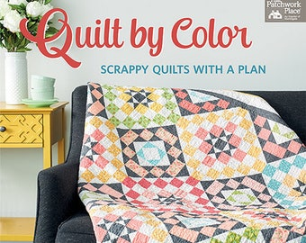 Softcover Book, Quilt by Color, Quilt Patterns, Scrappy Quilts, Scrap Quilts, Pinwheel Quilts, Star Quilts, Patchwork Quilts, Susan Ache