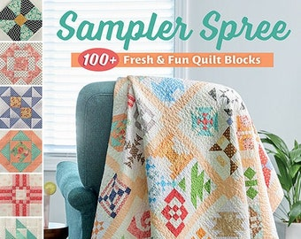 Softcover Book, Sampler Spree, Quilt Patterns, Scrap Quilts, Home Decor, Wall Hangings, Table Toppers, Little Quilts, Susan Ache