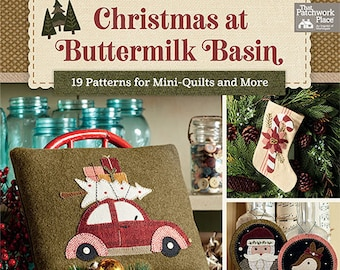 Softcover Book, Christmas at Buttermilk Basin, Wool Applique, Wool Quilt, Cotton Quilt, Patterns, Vintage, Folk Art, Patchwork, Stacy West