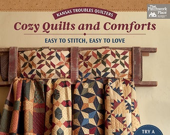 Quilt Book, Cozy Quilts and Comforts, Patchwork Quilts, Star Quilt, Pinwheel Quilt, Softcover Book, Lynne Hagmeier, Kansas Troubles Quilters