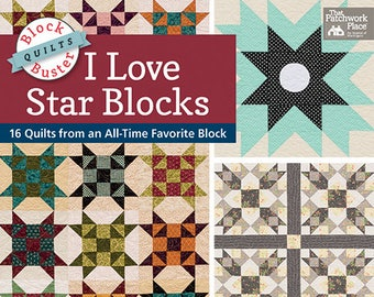 Softcover Book, I Love Star Blocks, Quilt Patterns, Art Quilts, Star Blocks, Shoofly Star, Scrappy Stars, Hunter Quilt, Home Decor, Quilts