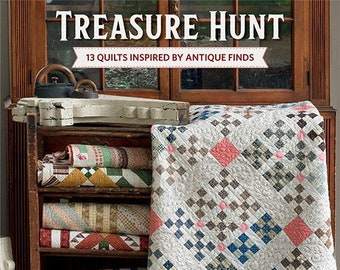 Quilt Book, Treasure Hunt, Softcover Book, Scrap Quilts, Wall Hanging, Bed Quilts, Antique Quilts, Square Dance, Virginia Reel