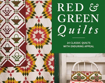 Softcover Book, Red & Green Quilts, Quilt Book, Two Color Quilts, Wall Hanging, Bed Quilts, Christmas Star, Holly Berries, Scrap Quilts