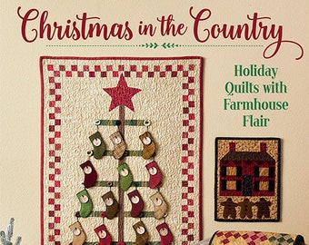 Softcover Book, Christmas in the Country, Snowmen, Christmas Quilts, Lap Quits, Ornaments, Table Runner, Advent Calendar, Rhonda McCray