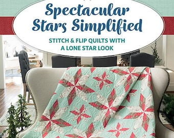 Quilt Book, Spectacular Stars Simplified, Softcover Book, Star Quilts, Wall Hanging, Bed Quilts, Lone Star Quilts, Shelley Cavanna