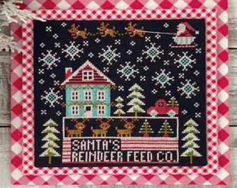 Counted Cross Stitch Pattern, Calendar Crates, December, Santa, Reindeer, Snowflakes, Stitching Housewives, PATTERN ONLY