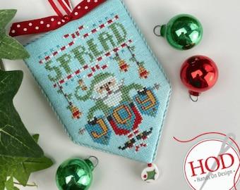 Counted Cross Stitch Pattern, Spread Joy, Secret Santa, Santa Claus, Christmas Ornament, Hands On Design, PATTERN ONLY