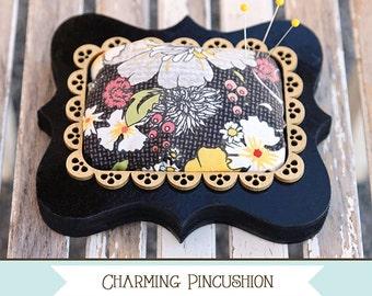 No Sew Pin Cushion, Adorn It Fabric Kit, Charming Pincushion, Sewing Accessory, Craft Accessory, Pin Cushion, Sewing Craft, PATTERN & KIT