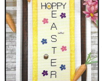 Counted Cross Stitch Pattern, Hoppy Easter, Easter Decor, Bunny Rabbit, Easter Chick, Spring Decor, Needle Bling Designs, PATTERN ONLY