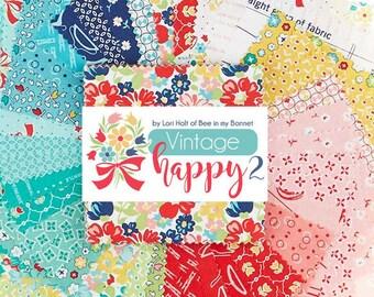 Quilt Fabric, Vintage Happy 2, Fat Quarters, Fat Quarter Bundle, 100% Cotton, Premium Cotton, Lori Holt, Bee in My Bonnet, (31 FQ pcs)