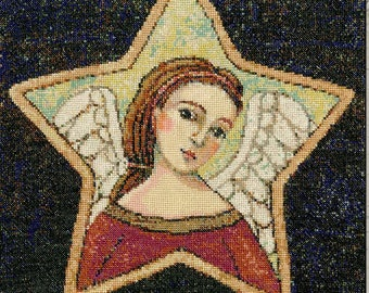 Counted Cross Stitch Pattern, Outstretched Arms, Angel, Christmas Angel, Angel Wings, Work of Heart, Angelic, Teresa Kogut, PATTERN ONLY
