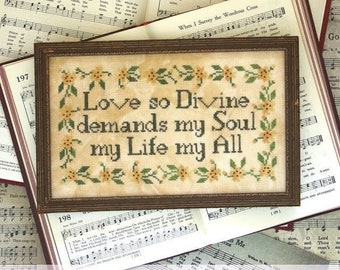PRE-Order, Counted Cross Stitch Pattern, Sunday Stitches, When I Survey, Inspirational, Hymn, Beth Twist, Heartstring Samplery, PATTERN ONLY