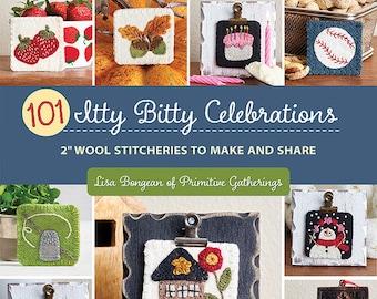 Softcover Book, Itty Bitty Celebrations, Holiday, Seasonal, Gardening, Pets, Snowman, Summer, Acorns, Lisa Bongean, Primitive Gatherings