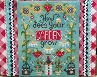 Counted Cross Stitch Pattern, How Does Your Garden Grow, Sunflowers, Farmhouse Decor, Stitching with the Housewives, PATTERN ONLY