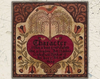 Counted Cross Stitch Pattern, Character, Early American, Folk Art, Country Decor, Primitive Decor, Teresa Kogut, PATTERN ONLY