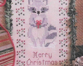 Counted Cross Stitch Pattern, Lil' Bandit, Raccoon, Christmas Ornament, Pillow Ornament, Ornament, Christmas, Designs by Lisa, PATTERN ONLY