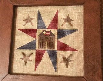 Cross Stitch Pattern, American Home, Patriotic Decor, Primitive Decor, Colonial Decor, Americana, Homespun Elegance, PATTERN ONLY