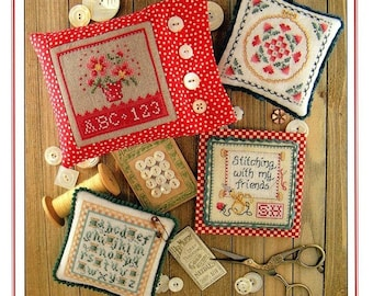 Counted Cross Stitch Pattern, Keepsakes, Book 1, Alphabet, Stitching With My Friends, Keepsake Squares, Sue Hillis Designs, PATTERN ONLY