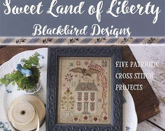 Softcover Book, Sweet Land of Liberty, Patriotic, Americana, French Country, Primitive Decor, Rustic Decor, Home Decor, Blackbird Designs