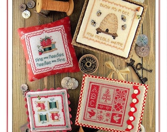 Counted Cross Stitch Pattern, Keepsakes, Book 3, Busy Bee, Pins & Needles, Spools, Keepsake Squares, Sue Hillis Designs, PATTERN ONLY