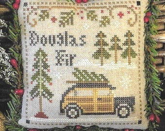 Counted Cross Stitch Pattern, Douglas Fir, Jack Frost's Tree Farm, Christmas Tree Farm, Christmas, Little House Needleworks, PATTERN ONLY