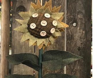 Wool Applique Pattern, Bloom with Grace, Summer Decor, Sunflower, Wool Sunflower, Garden Decor, As the Crow Flies, PATTERN ONLY