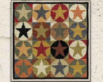 Counted Cross Stitch Pattern, Star Quilt, Primitive Stars, Cross Stitch Stars, Quilt Stars, Primitive Decor, Teresa Kogut, PATTERN ONLY