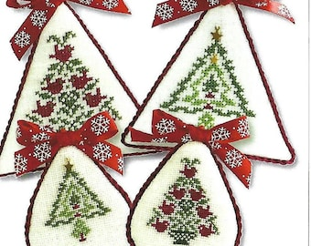 Counted Cross Stitch Pattern, Christmas Tree Collection, Christmas Trees, Tree Ornaments, Christmas Ornament, JBW Designs, PATTERN ONLY