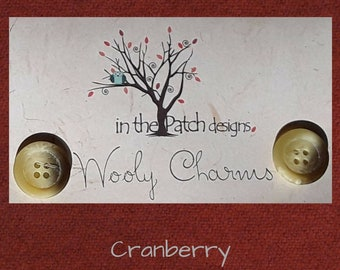 Wool, Wooly Charms, Felted Wool, Wool Charm Packs, Cranberry, Overdyed Wool, Wool Applique, Herringbone Wool, In the Patch Designs