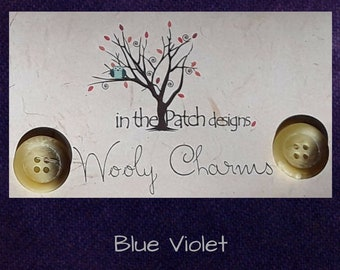 Wool, Wooly Charms, Felted Wool, Wool Charm Packs, Blue Violet, Overdyed Wool, Wool Applique, Herringbone Wool, In the Patch Designs