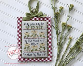 Cross Stitch Pattern, Grace of a Flower, Flowers, Friendship, Inspiration, Coneflowers, Garden Decor, Hands On Design, PATTERN ONLY