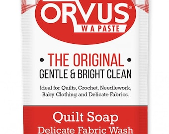 Orvus, Quilt Soap, Water Activated Paste, Delicate Fabric Wash, HE Safe Soap, Hypoallergenic Wash Soap, Concentrated Soap, Made in USA