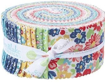 Quilt Fabric, Vintage Happy 2, Jelly Roll, 2 1/2 Strips, 100% Cotton, Premium Cotton, Lori Holt, Bee in My Bonnet, (40 strip pcs)