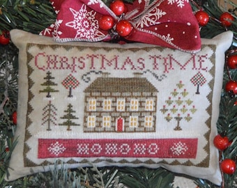Counted Cross Stitch Pattern, Christmas Time, Christmas Decor, Christmas Ornament, Evergreens, Shabby Decor, Abby Rose Designs, PATTERN ONLY