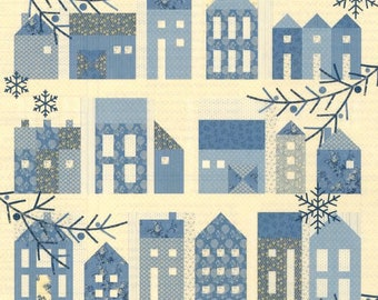 Quilt Pattern, Winter Village, Floral Quilt, Houses Quilt, Applique Flowers, Bed Quilt, Laundry Basket Quilts, Edyta Sitar, PATTERN ONLY