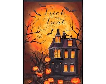 Quilt Fabric, Haunted Night, Haunted Night Panel, Halloween Fabric, Quilt Fabric, Halloween Decor, Danielle Leon, Wilmington Prints