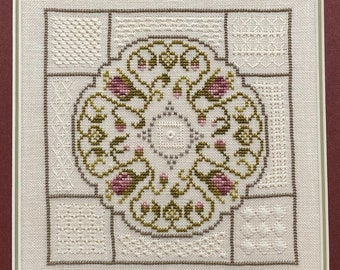 Counted Cross Stitch, Lady Catherine's Garden, Cross Stitch Patterns, Whitework, Drawn Thread, Video Lessons, Jean Farish, PATTERN ONLY