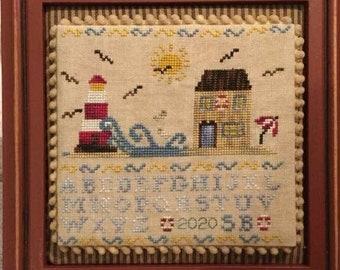 Counted Cross Stitch, A Summer Day, Sewing Box Cross Stitch Patterns, Sewing Accessory, Beach Decor, Nautical, Mani di Donna, PATTERN ONLY