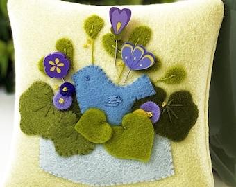 Pin Lovers, Bluebird's  Garden, Bluebird, Pin Mini, Purple Flowers, Purple Pin Minis, May Pincushion, Just Another Button Company