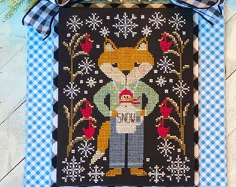 Counted Cross Stitch Pattern, Floyd & Flurry, Fox, Cardinals, Snowman, Winter Decor, Stitching with the Housewives, PATTERN ONLY