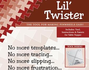 Quilt Ruler, Lil' Twister, Pinwheel Ruler, Acrylic Ruler, Charm Pack Ruler, Pinwheels, Twister Sisters, Clear Acrylic Ruler, Non Skid Ruler