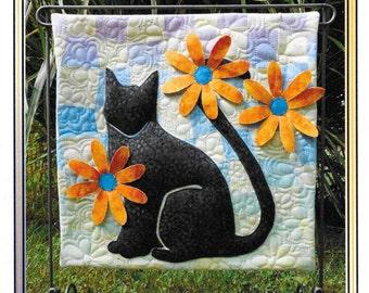 Quilt Pattern, Miss Daisy, Black Cat Applique, Applique Quilt, Summer Quilt, Quilts, Erin Underwood Quilts, PATTERN ONLY